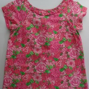 Lilly Pulitzer 12 Shandy Button Back Top Pink Rose